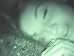Домашний минет на камеру ночного видения
