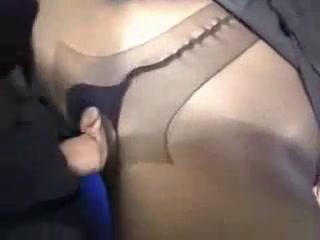 Дрочит Темными Колготками Секс