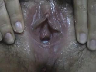 Женщина мастурбирует волосатую щель и делает домашний минет крупным планом