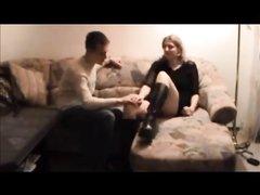 Интенсивный домашний секс со зрелой женщиной на скрытую камеру