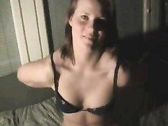 Домашняя мастурбация волосатой киски и минет от первого лица