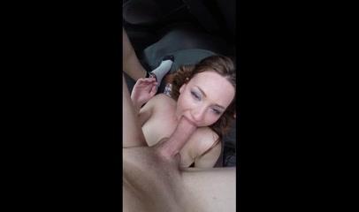 Жёсткий домашний минет с окончанием на лицо молодой проститутки