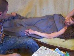 Куни с домашним минетом и окончание на сиськи зрелой развратницы