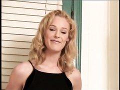 Домашняя нарезка с окончанием внутрь и на лица блондинок и брюнеток