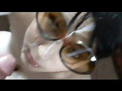 Сборник горячего видео с нежными и жёсткими окончаниями на лица и в рот любовниц